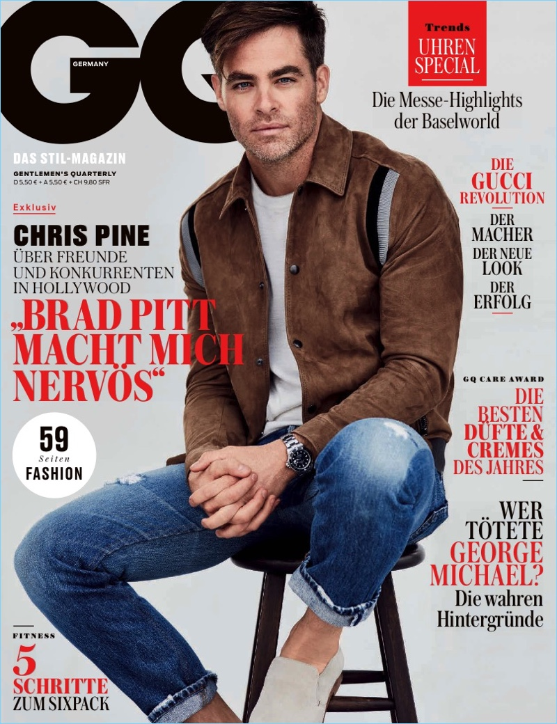 Chris Pine Covers GQ Germany, Talks 'Wonder Woman'