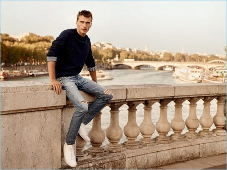 AG Jeans Explores Paris with Clément Chabernaud for Spring '17 Campaign