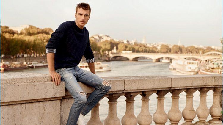 AG Jeans Explores Paris with Clément Chabernaud for Spring '17 Campaign