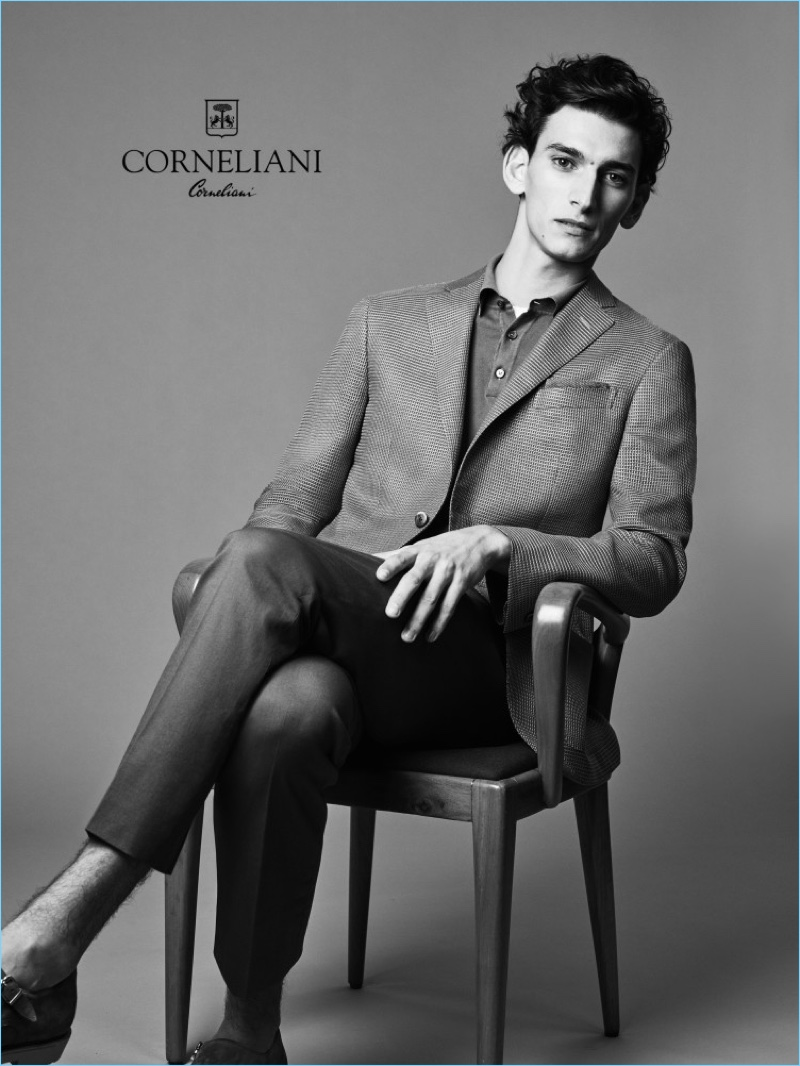 Thibaud Charon is an elegant vision for Corneliani's spring-summer 2017 campaign.