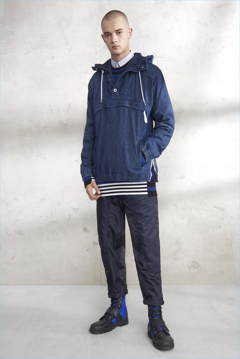 Denim and navy provide for a low-key nautical theme from Diesel Black Gold.