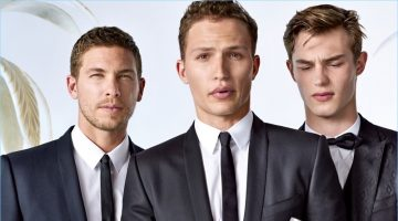 Models Adam Senn, Nathaniel Visser, and Kit Butler star in Dolce & Gabbana's spring-summer 2017 Sartoria lookbook.