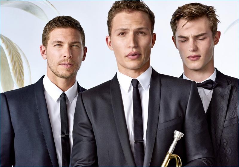 Models Adam Senn, Nathaniel Visser, and Kit Butler star in Dolce & Gabbana's spring-summer 2017 Sartoria lookbook.