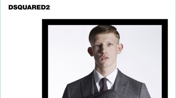 Dsquared2 Taps Connor Newall as Face of Classic Tailored Collection