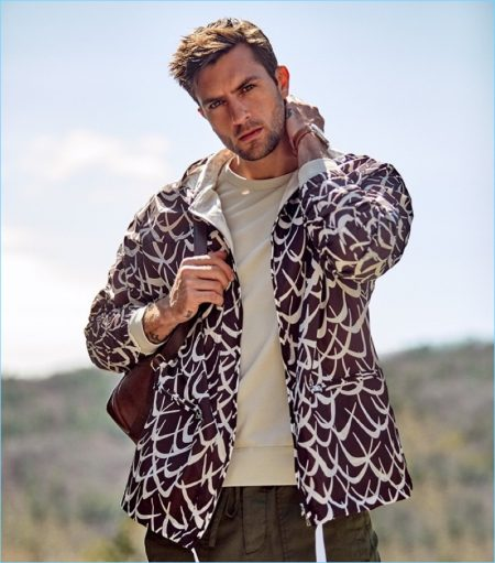 The Great Outdoors: Rafael Lazzini Models Sporty Styles for East Dane