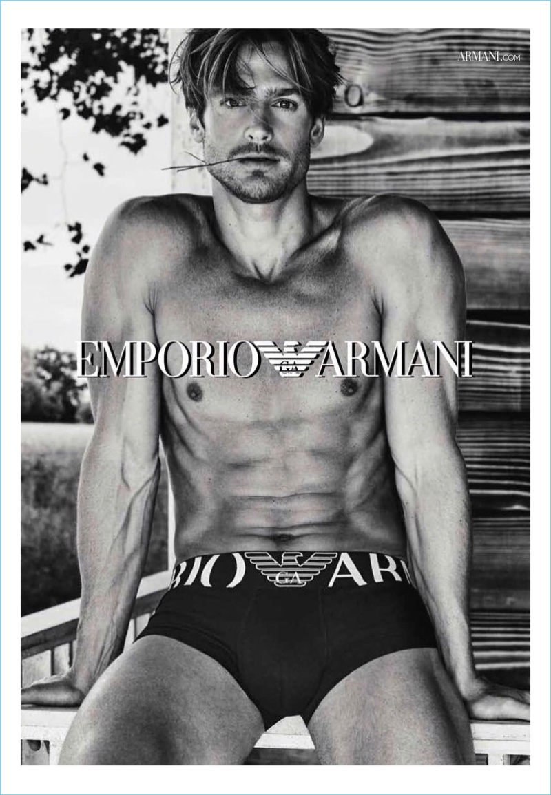 Emporio Armani Reconnects with Jason Morgan for New Underwear Campaign