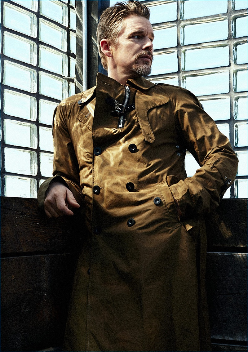 Christopher Campbell styles Ethan Hawke for the pages of Haute Living.