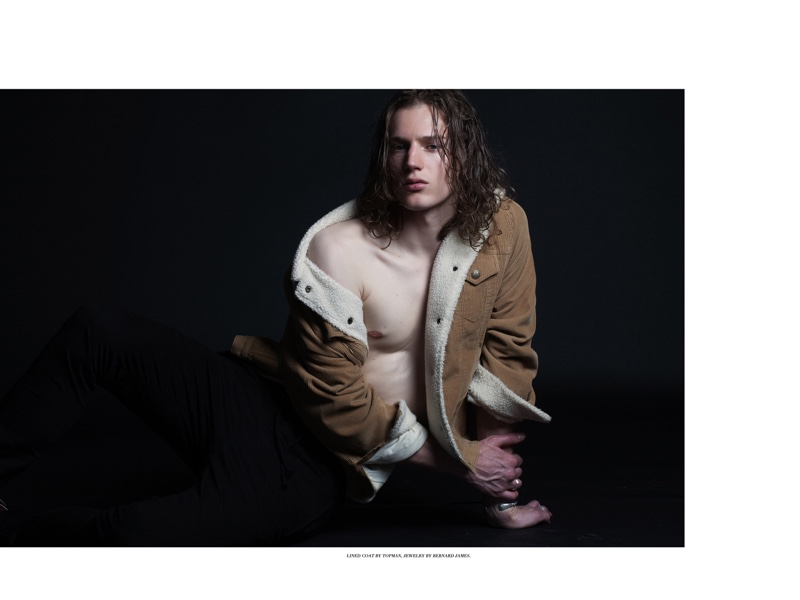 Felix wears corduroy jacket Topman and jewelry Bernard James.