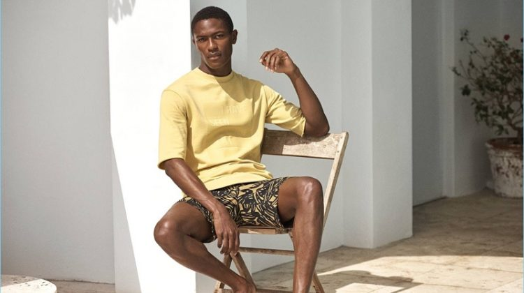 Beat the Heat: Hamid Onifade Models H&M's Sleek Summer Styles