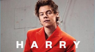 Harry Styles covers The Sunday Times magazine in a bespoke suit by Charles Jeffrey.