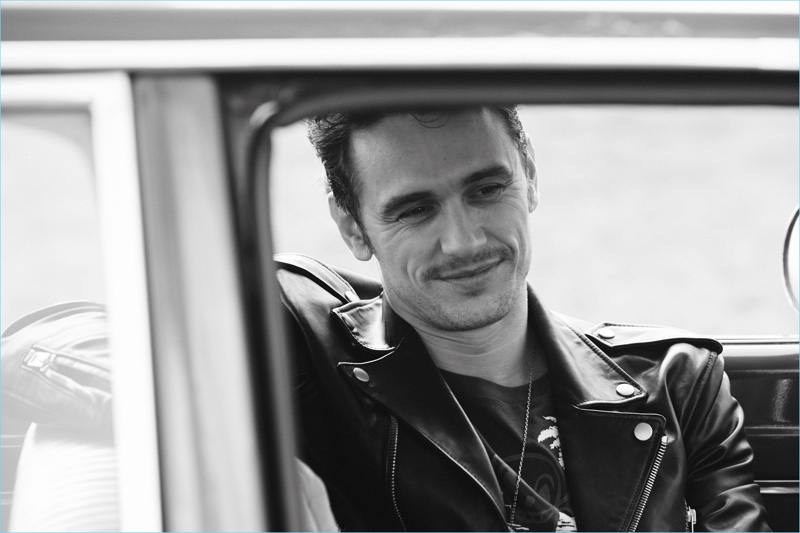 James Franco is front and center for a new black and white promo image from Coach.