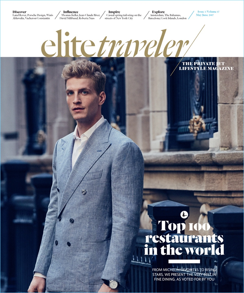 Jesse Shannon covers the May/June 2017 issue of Elite Traveler.