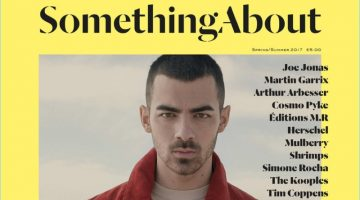 Joe Jonas covers the spring-summer 2017 issue of Something About magazine.