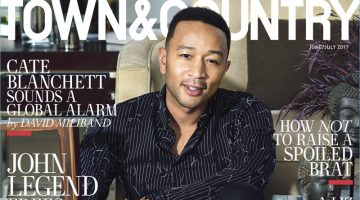 John Legend covers the June/July 2017 issue of Town & Country.