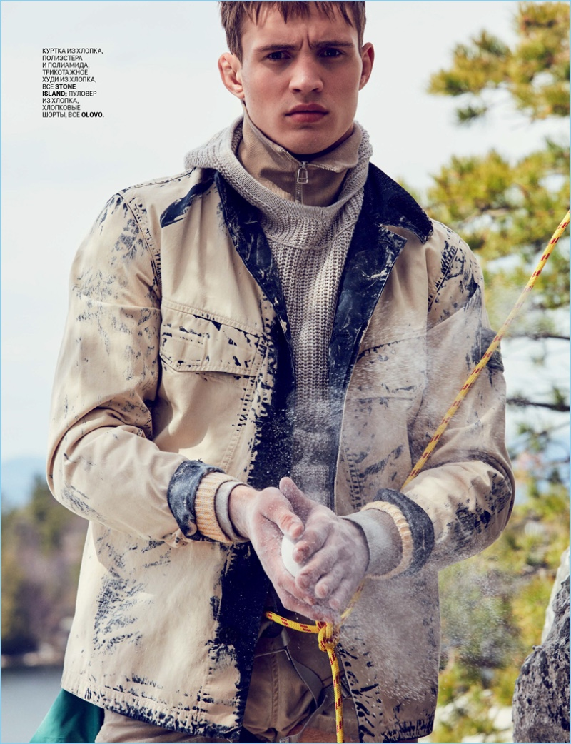 83ce7aacf8ce Julian Schneyder Goes Rock Climbing for GQ Russia