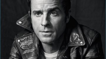 Justin Theroux covers the May 2017 issue of Icon El País in a Gucci leather biker jacket.