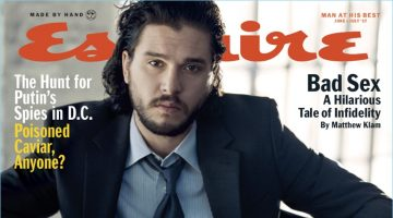 Kit Harington suits up for the June/July 2017 cover of Esquire.