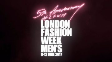 London Fashion Week Men's introduces a fresh reworked logo for its fifth anniversary.