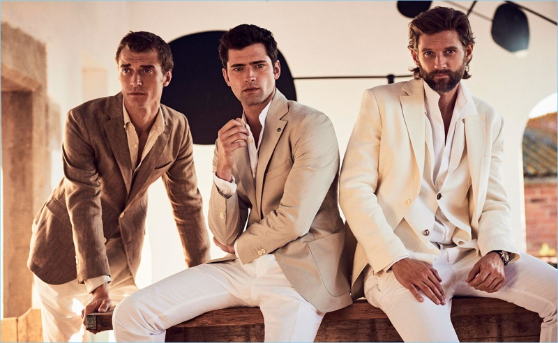 Top models Clément Chabernaud, Sean O'Pry, and RJ Rogenski star in Massimo Dutti's spring 2017 style edit.