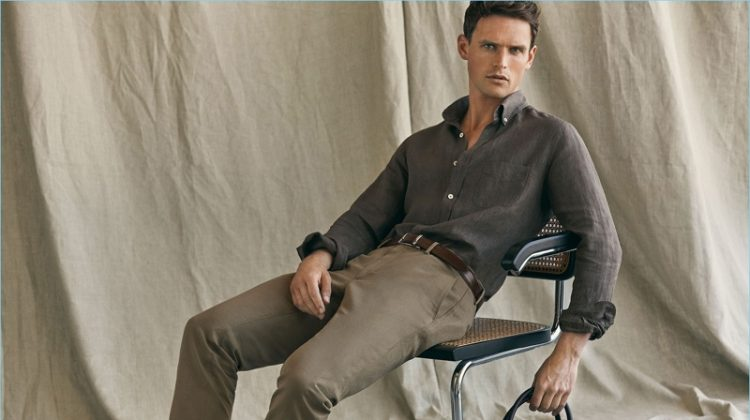 Linen Essentials: Guy Robinson Embraces Chic Spring Style from Massimo Dutti