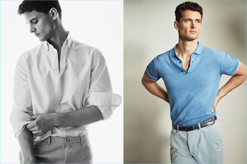 Chic summer fashions from Massimo Dutti steal the spotlight with a shoot featuring Garrett Neff.