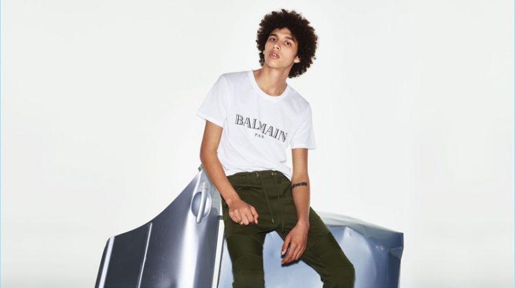 Jackson Hale Rocks Balmain Looks for Matches Fashion
