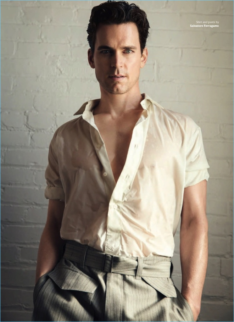 matt bomer covers out talks learning to act
