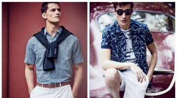 Models Garrett Neff and Adrien Sahores appear in Neiman Marcus' latest men's catalogue.
