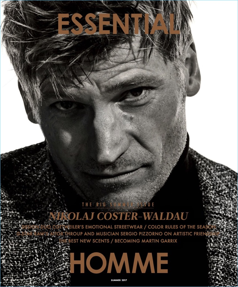 Nikolaj Coster-Waldau covers the summer 2017 issue of Essential Homme.