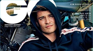 Orlando Bloom covers the May/June 2017 issue of GQ Italia.