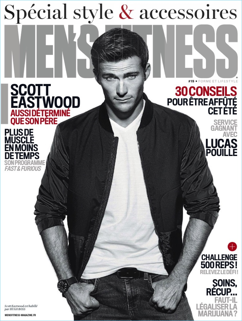 42579d66d51 Actor Scott Eastwood covers the June 2017 issue of Men s Fitness France.