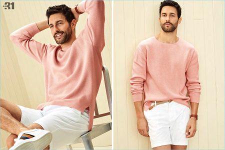 Think Pink: Noah Mills Rocks Pink Summer Fashions for Simons