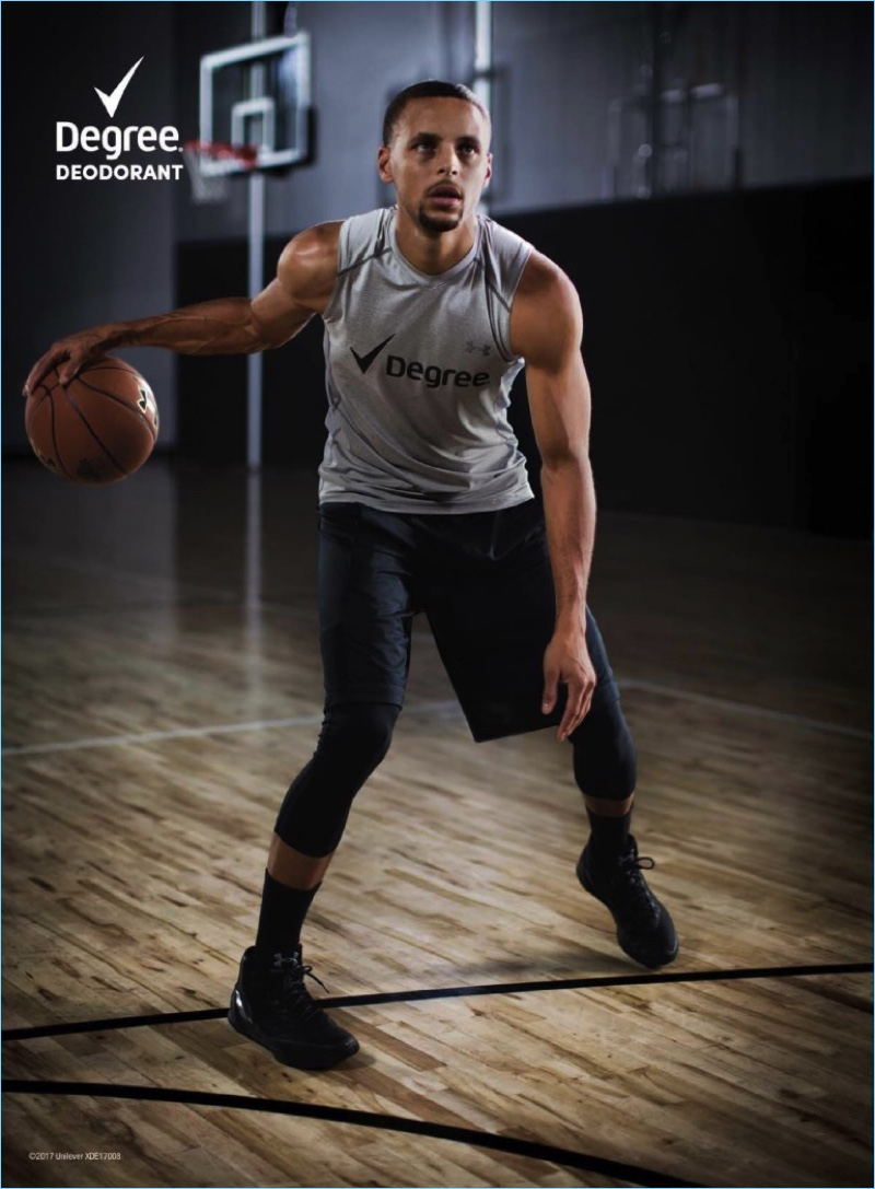 Steph Curry stars in Degree's most recent advertisement.