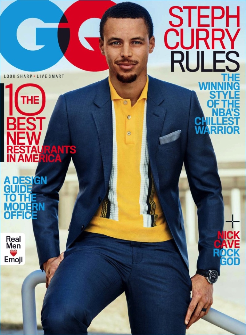 Steph Curry covers the May 2017 issue of GQ.