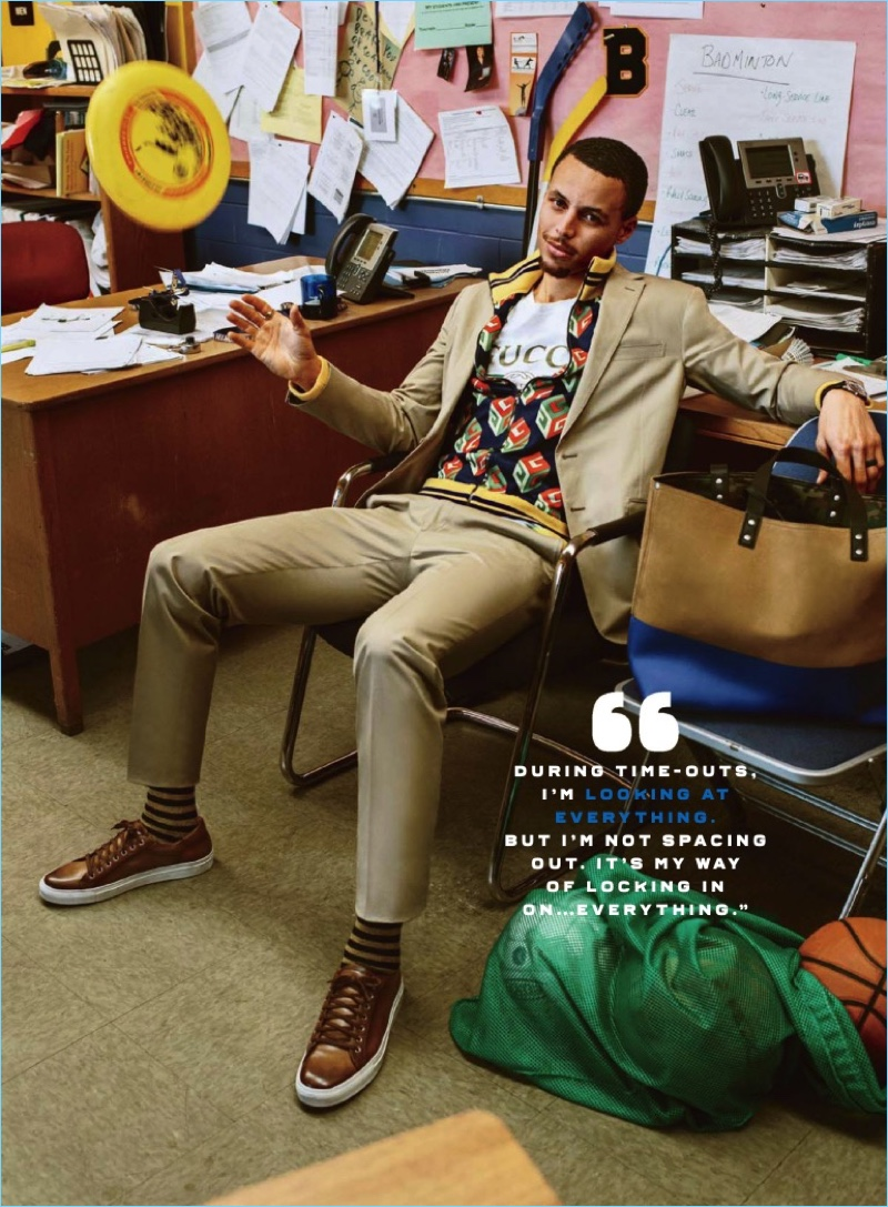 Steph Curry Covers Gq Dons Sleek Designer Suiting