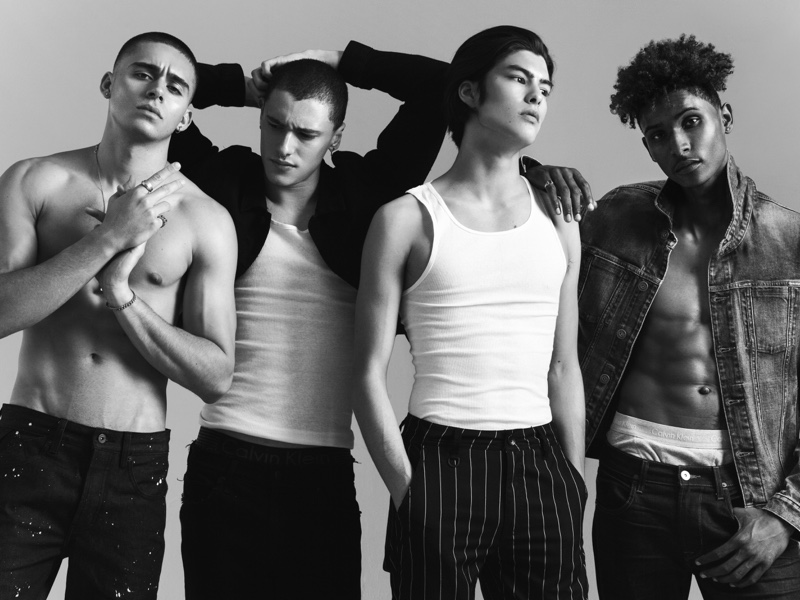 Pictured Left to Right: Maverick McConnell, Yousef Rammaha, Aaron Bernards, and Ash Hudson pose for a studio photo.