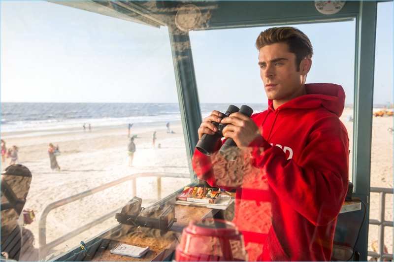 On lifeguard duty, Zac Efron appears in the 2017 revival of Baywatch.