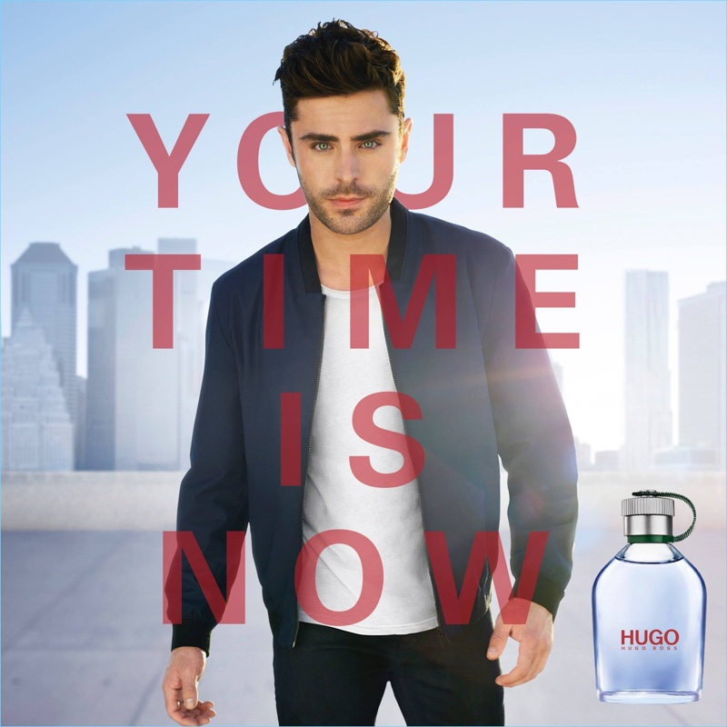 Zac Efron stars in the HUGO fragrance campaign.