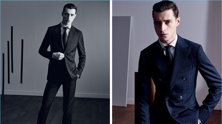 Adrien Sahores Dons Sleek Tailoring from Time Homme