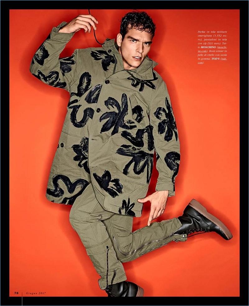 Winter Pop: Alexandre Cunha Models Fall Fashions for Gentleman Magazine
