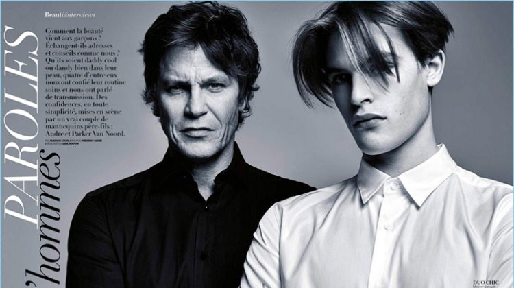 Andre & Parker van Noord Star in Madame Figaro Beauty Feature