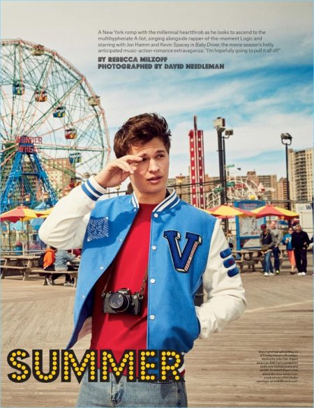 Ansel Elgort Covers Billboard, Heads to Coney Island for Shoot