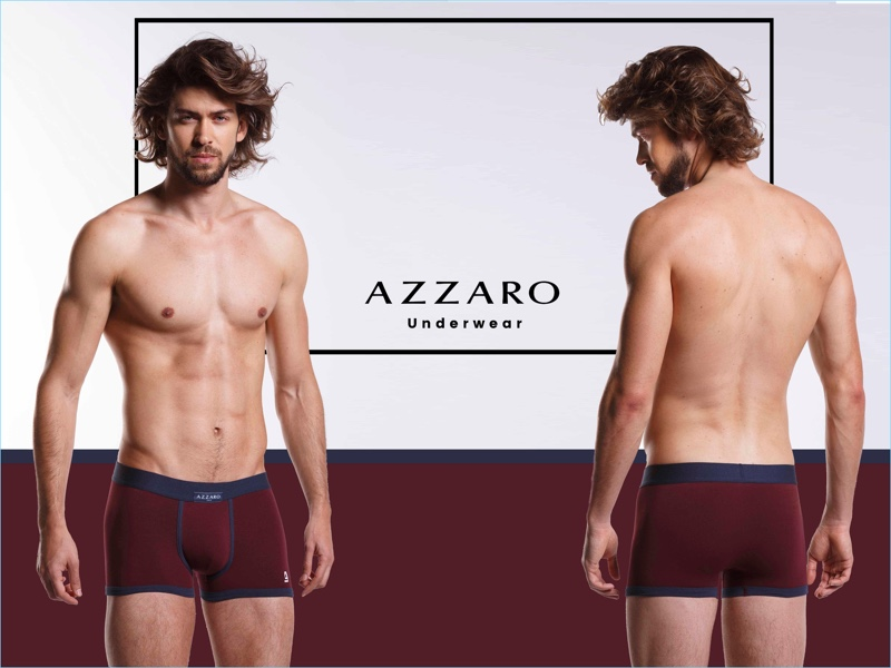 Ruben Ibañez photographs Daniel Vargas for Azzaro's underwear campaign.