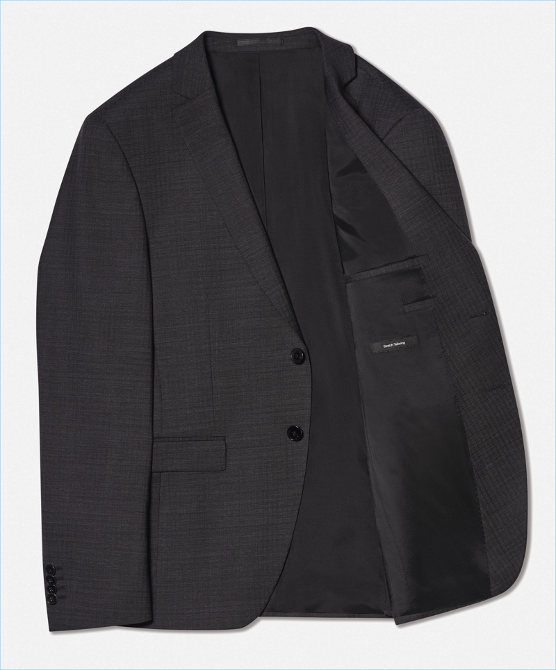 BOSS' innovative suit jacket withstand creases and crinkling, which makes it perfect for packing.