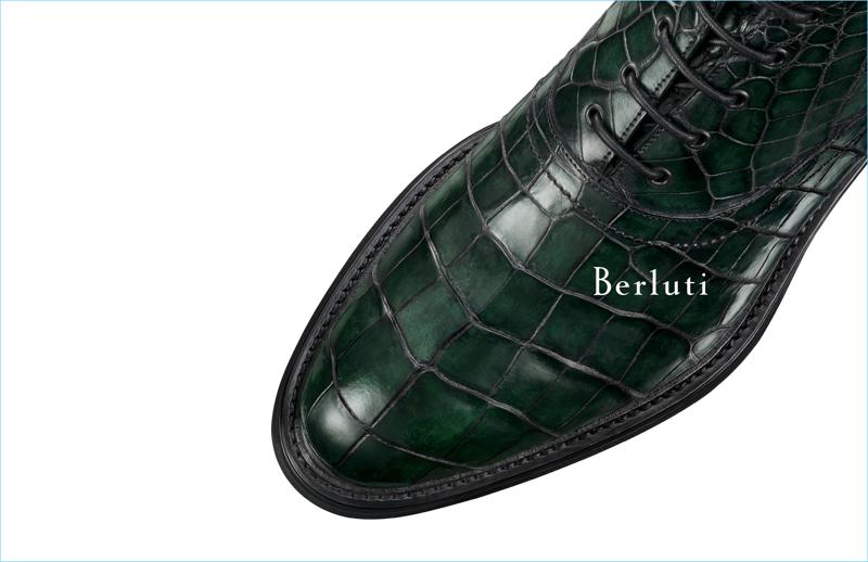 Creative director Haider Ackermann serves up a rich green alligator boot for Berluti's fall-winter 2017 lineup.