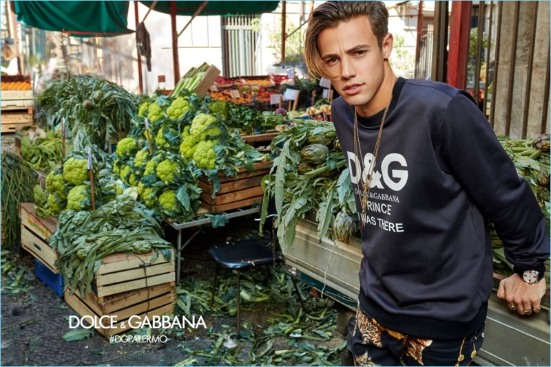 Cameron Dallas reunites with Dolce & Gabbana for its fall-winter 2017 campaign.