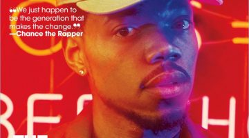 Chance the Rapper covers the most recent issue of Teen Vogue.