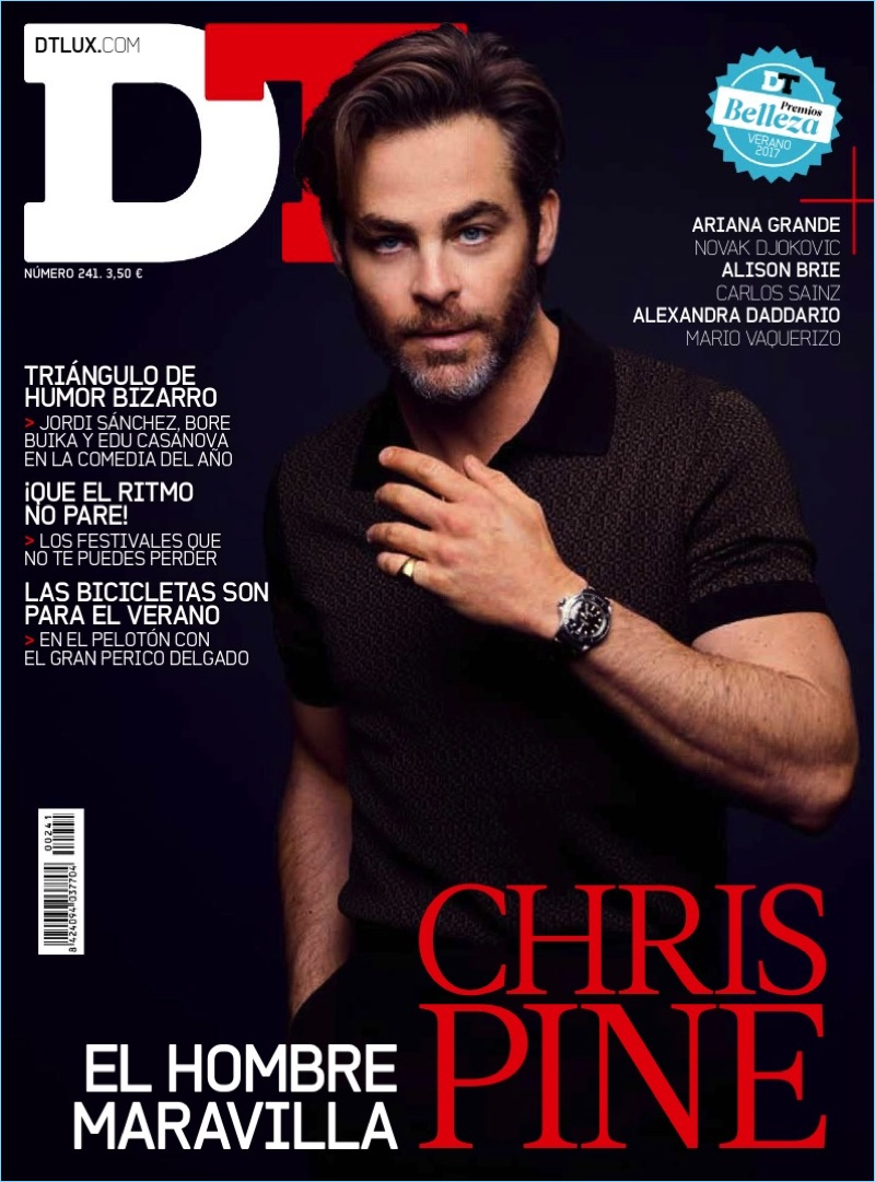 Chris Pine covers the June 2017 issue of DT Spain.