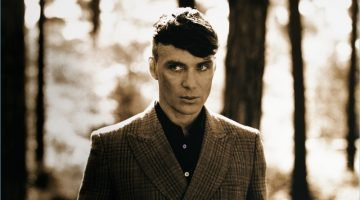 Cillian Murphy dons a double-breasted suit for Stella McCartney's fall-winter 2017 film.