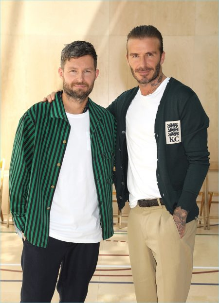 David Beckham Lends His Star Power to Kent & Curwen Spring '18 Presentation